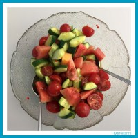 Tomaten-Melonen-Salat mit Minze | antetanni kocht