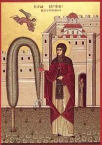 Αγία Ειρήνη Χρυσοβαλάντου: ο βίος της- τα μήλα τουΠαραδείσου