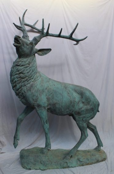 A 20th century bronze model of a stag. Sold for £7,800 at Anthemion Auctions