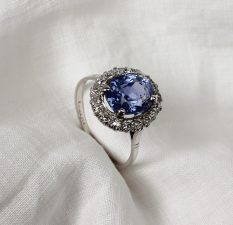 A sapphire and diamond dress ring Sold for £2,000 at Anthemion Auctions