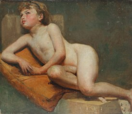 In the style of Joaquin Sorolla y Bastida - Study of a child. Oil on canvas mounted onto board. Sold for £950 at Anthemion Auctions