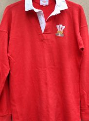 A Wales Rugby jersey from 1976 Grand Slam, with the number 1 to the reverse, worn by Charlie Faulkner. Sold for £1,250 at Anthemion Auctions
