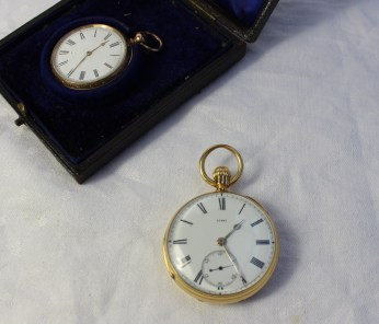 An 18ct yellow gold keyless wound open faced pocket watch. Sold for £680 at Anthemion Auctions