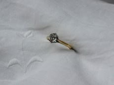A solitaire diamond ring, the old round cut diamond approximately 0.75 of a carat. Sold at Anthemion Auctions for £850