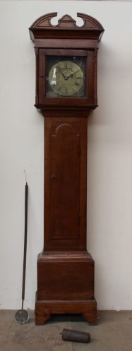A 19th century oak longcase clock. Sold for £680 at Anthemion Auctions