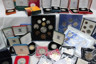 A festival of Britain 1951 ten coin set together with other coin sets. Sold for £720 at Anthemion Auctions