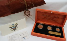 An Indian Chief gold coin set by the US Mint. Sold for £720 at Anthemion Auctions