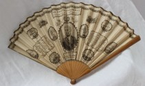 """A New Trafalgar fan"" - a paper fan, dedicated to Lady Collingwood, with a central oval portrait of Lord Nelson. Sold at Anthemion Auctions for £750"