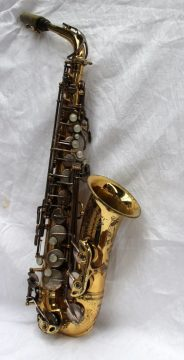 A Selmer saxaphone, made in France. Sold for £2,300 at Anthemion Auctions