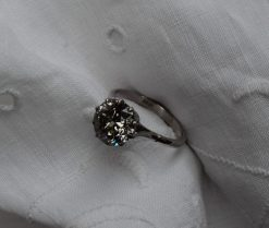 A solitaire diamond ring with and old round cut diamond, approx 2.5ct. Sold for £3,200 at Anthemion Auctions