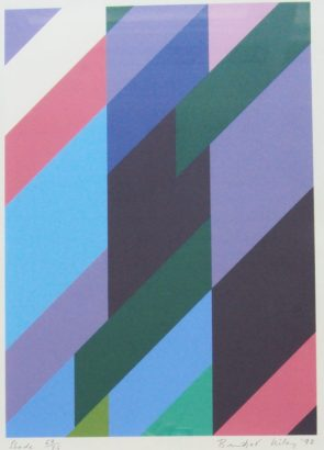 Bridget Riley - Shade, A Screenprint. Sold for £2,300 at Anthemion Auctions