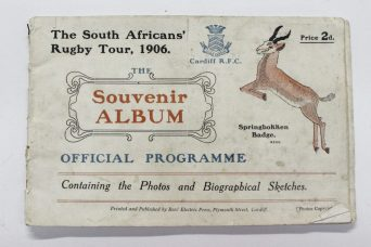 The South Africans' Rugby Tour, 1906, the Souvenir Album. Sold for £370 at Anthemion Auctions