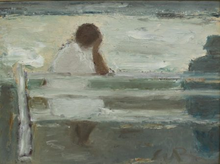Will Roberts Seat by the Sea I Oil on board Initialled and inscribed verso 29 x 39cm