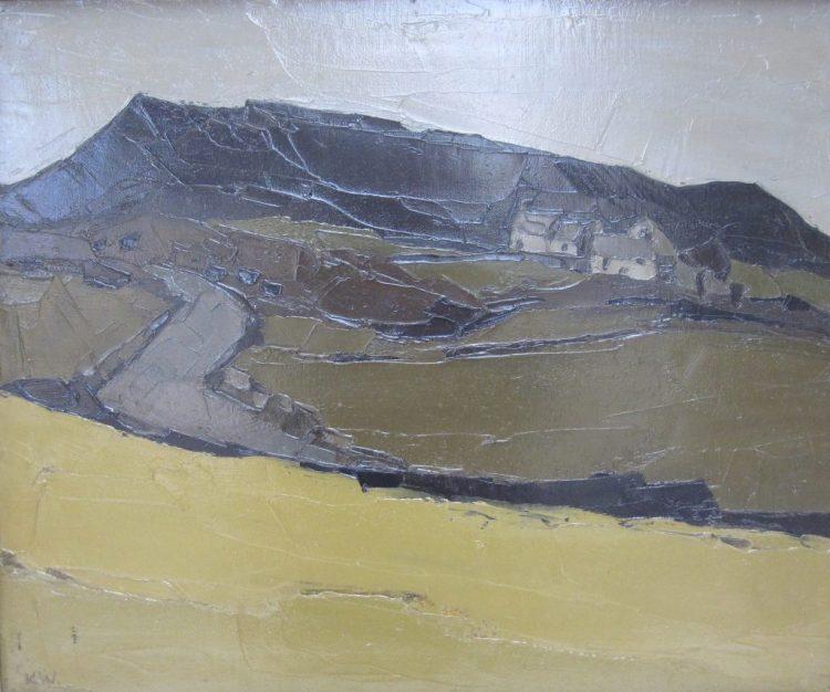 Sir Kyffin Williams Llanihangel Tinsilwy Oil on canvas