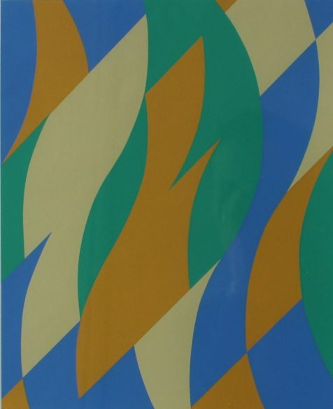 Bridget Riley (b.1931) - Fold, Screenprint in colours. Signed, titled and dated '04 in pencil Numbered 192/250 27.5cm x 22.5m. Sold for £1,500 at Anthemion Auctions