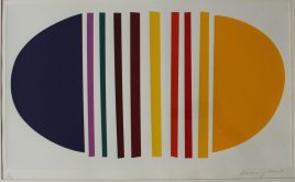 ir Terry Frost (1915-2003) Blue and Lemon Limited edition Silkscreen print, No.61/150 Signed in pencil to the margin 37.5 x 65cm. Sold for £1,200 at Anthemion Auctions