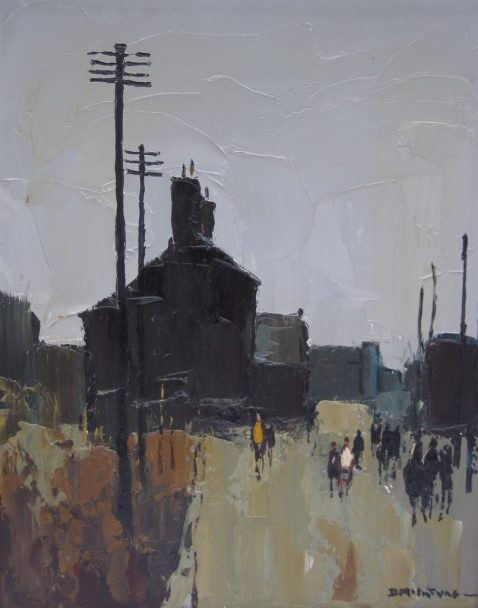 Donald McIntyre - Going to School, Oil on board. Sold for £3000 at Anthemion Auctions