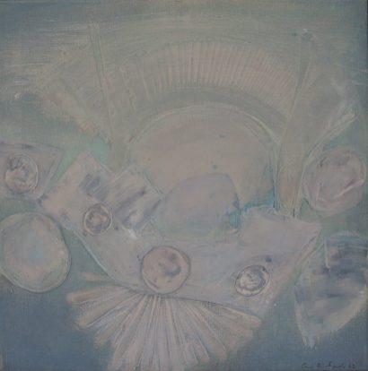 Ceri Richards - Peu a peu sortant de la brume, Oil on canvas. Sold for £2000 at Anthemion Auctions