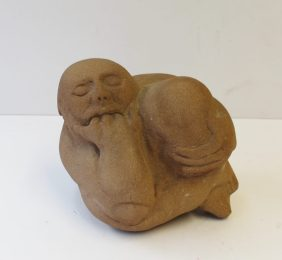 Peter William Nicholas, F.R.B.S. A.R.C.A. (1934-2015) - The thinker, Brown Stone. Initialled 16 x 14cm. Sold for £230 at Anthemion Auctions