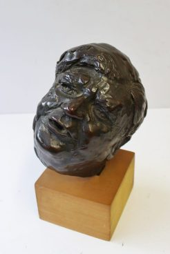 Peter William Nicholas, F.R.B.S. A.R.C.A. (1934-2015) - Maquette for a portrait of Nye Bevan. Bronze, initialled and dated '85 inscribed and signed to the base of the plinth 16cm high. Sold for £600 at Anthemion Auctions