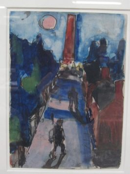 Josef Herman - Landscape scene, Gouache and watercolour 22.5 cms x 16.5 cms. Theo Waddington Gallery label verso. Sold for £720 at Anthemion Auctions