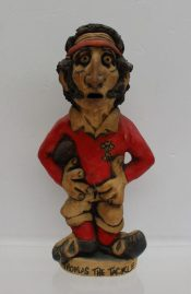 """A John Hughes pottery Grogg titled """"Thomas the tackle"""", signed to the base, 30.5cm high. Sold for £330 at Anthemion Auctions"""