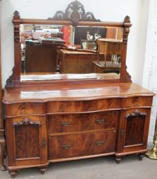 A Victorian mahogany mirror back sideboard