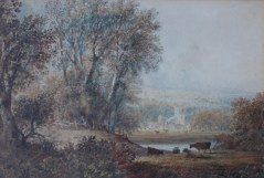 Lot 453 - Estimates: £400 - 500. Anthony Vandyke Copley Fielding Lanercost Priory, Cumberland Watercolour 19 x 28.5cm Grindley and Palmer label verso