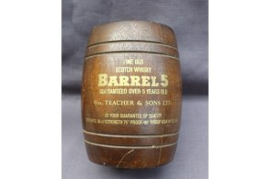 Anthemion Auctions Timed auction - Lot 1056. A Wm Teacher & Sons Ltd Barrel 5 fine old Scotch Whisky, in an oak coppered barrel together with a 20cl Glen Ord 12 year old single malt whisky cased