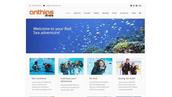 Anthias Divers Launch New Website
