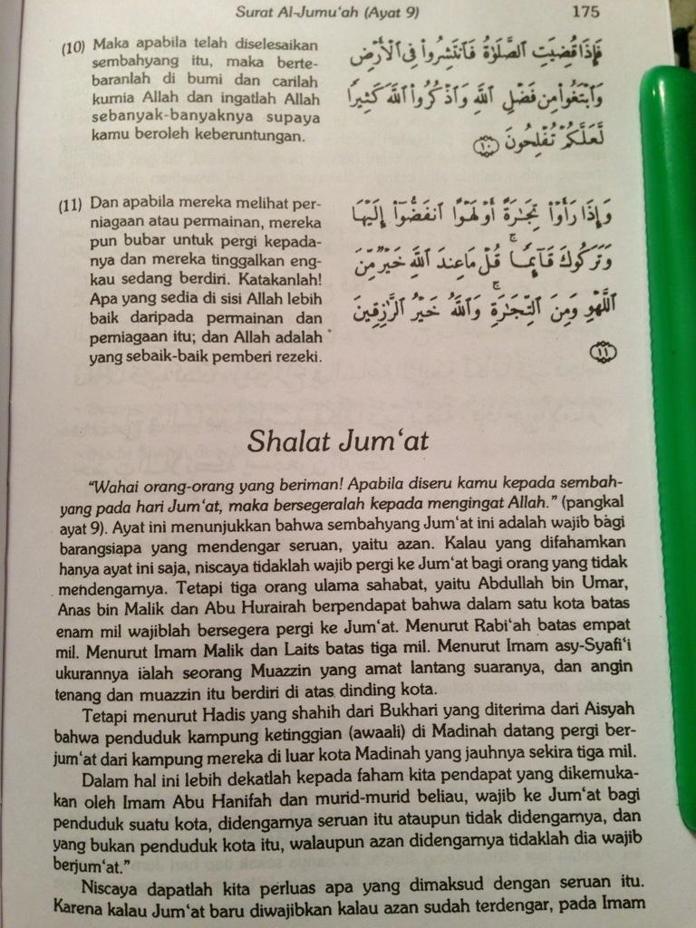 Al Jumu Ah Ayat 9 11 : Al-Jumu'ah, Tafsir, Hamka