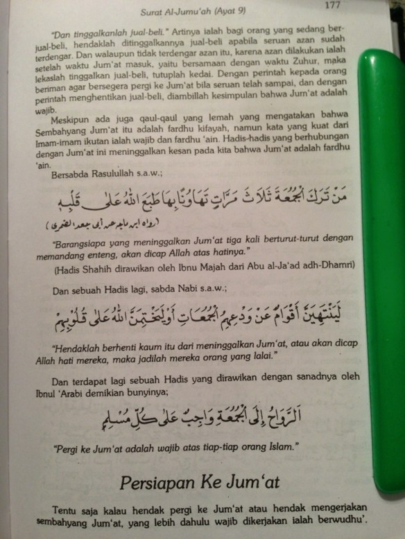 Al Jumuah Ayat 9 : jumuah, Al-Jumu'ah, Tafsir, Hamka