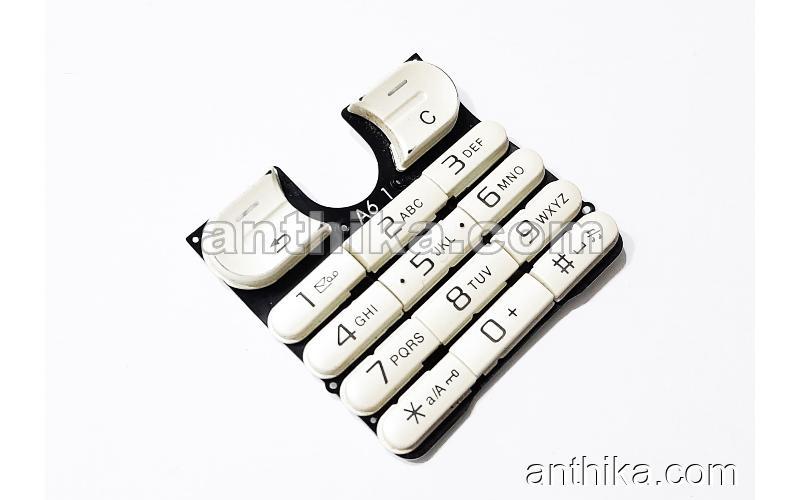 Sony Ericsson w200 w200i Tuş Original Keypad Chreme Used