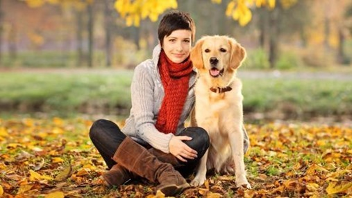 women-with-dog