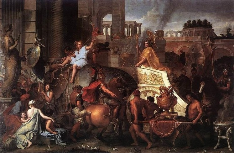 charles-le-brun-entry-of-alexander-into-babylon-ca-1664-oil-on-canvas
