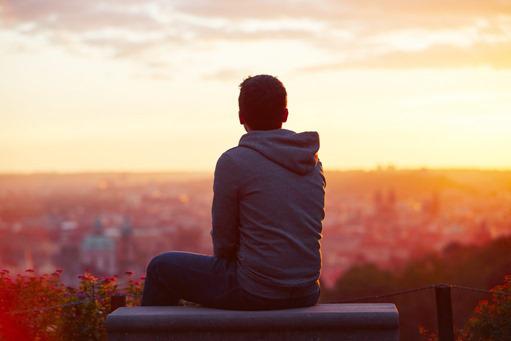 Sad-Boy-Wallpaper-at-the-sunrise