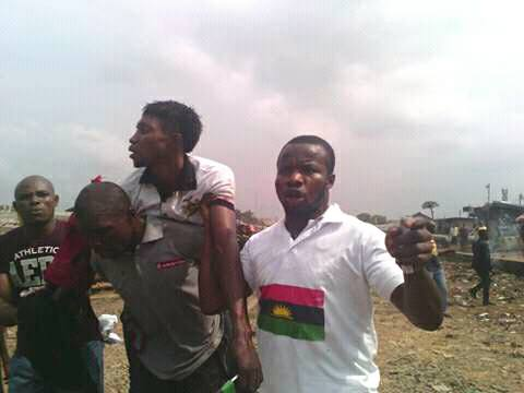 Biafran protested killed by Nigerian Army