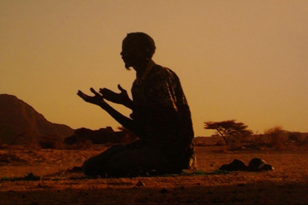 An African praying