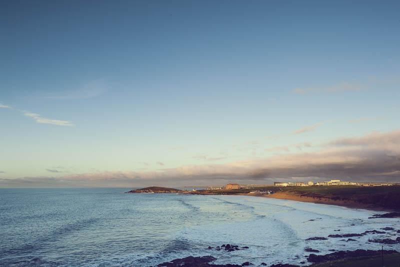 Across the bay towards the Headland Hotel, Cornwall