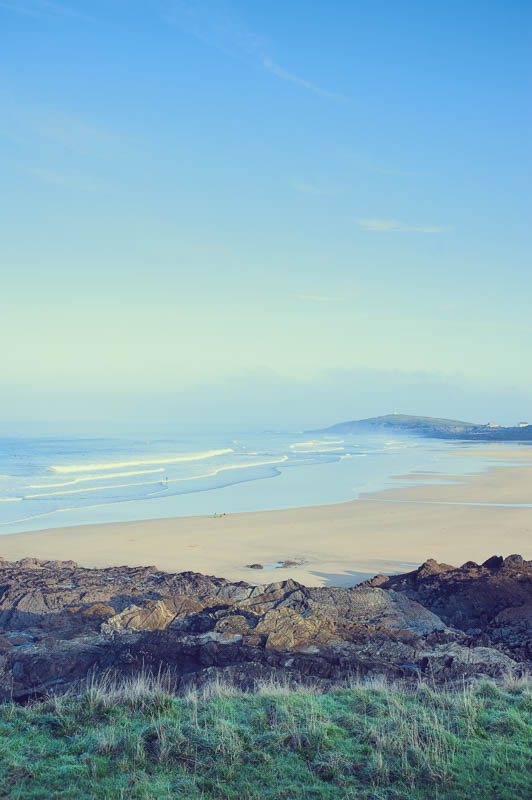 Bright morning on Fistral beach, Newquay