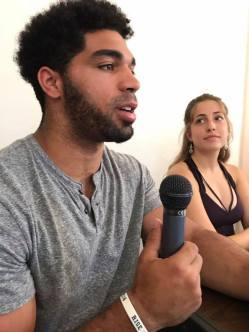 Ken Bradley answers a question from an Italian journalism student.