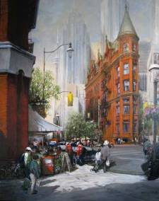 "The Gooderham Building, Front and Church Streets, Toronto | 60"" x 48"" acrylic on canvas 