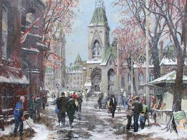 "The East Block of Parliament, Ottawa | 36"" x 48"" acrylic 