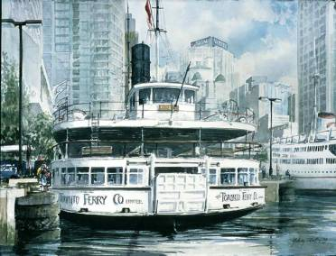 "Trillium at Dock II | 22"" x 30"" watercolour 