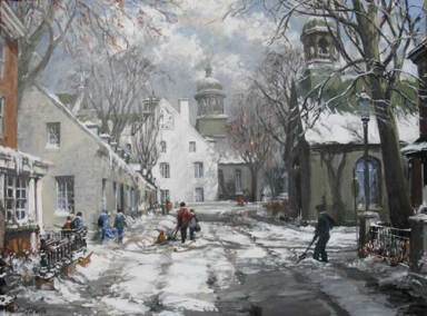"Early Snow - Trois Rivieres, Quebec | This painting has been selected as a 2012 Christmas Card for                 ""TPH The Printing House""."