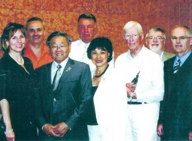 Summer 2006. LT-Governor of Alberta Norman Kwong with his wife and the CSPWC Executive Members at Calgary's National Watercolour Symposium.