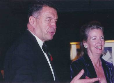 2000. The Honorable Hilary Weston, the Lt. Gov. of Ontario and Tony at the 75th anniversary of the CSPWC.