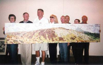 2005. Tony and his committee hang the final National Ballet Invitational Art Show at the Hummingbird Centre.