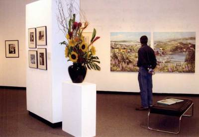 2008. General view of exhibition at the Aird with Tony's double panel of Trinity, Newfoundland.