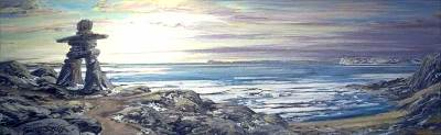 "Northern Guardian | 12"" x 36"" acrylic 